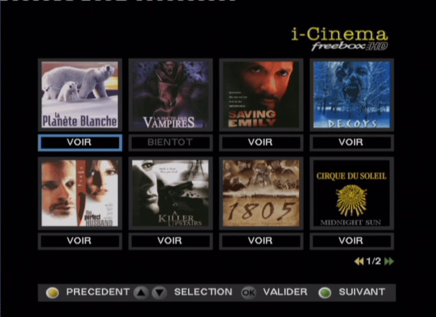 FreeBox TV : I-Cinema