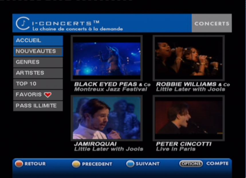 FreeBox TV : I-Concert