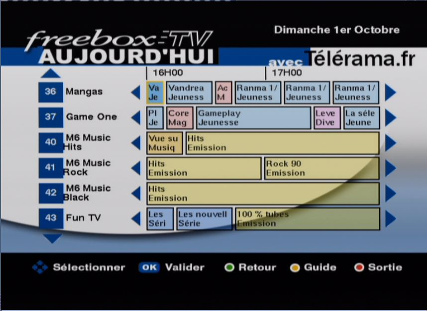 FreeBox TV : Guide TV