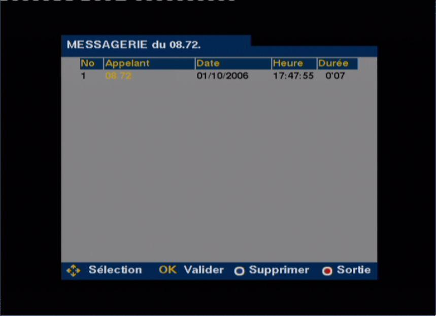 Messagerie FreeBox